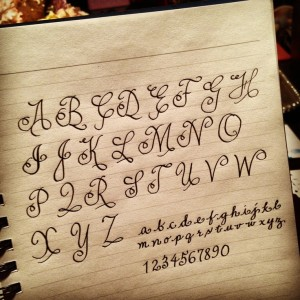 Excited to put my own twist to a classic (copperplate font)