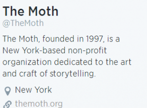 The Moth Radio Storytelling