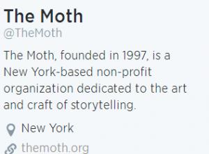 The Moth Radio Storytelling