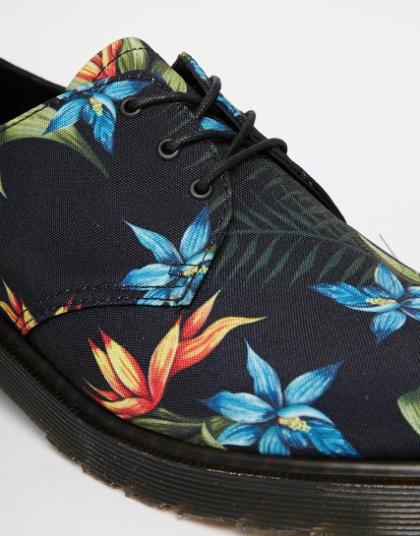 floral dr. martens menswear