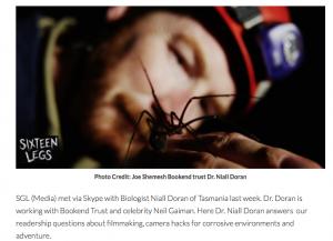 Dr. Niall Doran New Zealand Biologist Filmmaker
