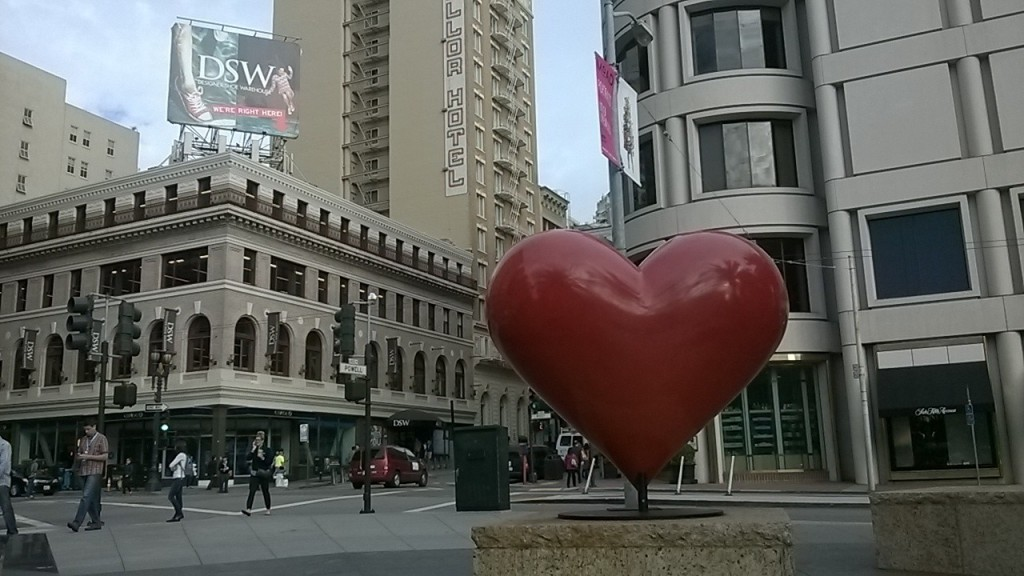 San Francisco Outdoor Art Heart Sculpture Union Square